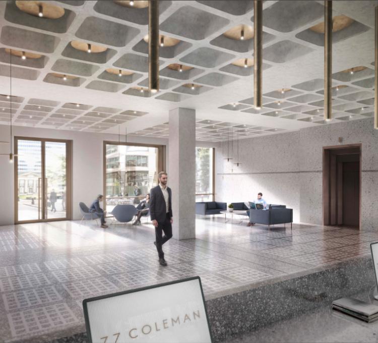 Construction begins at 77 Coleman Street - Kajima UK